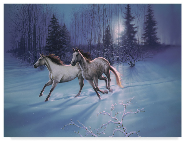 "Kirk Reinert 'winter Evening' Canvas Art, 19""x14"" For Reinert 5 Piece Dining Sets (View 20 of 25)"
