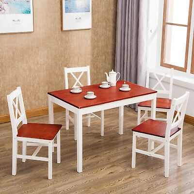 Kitchen And Dining Room Furniture - Buyusmarketplace with Adan 5 Piece Solid Wood Dining Sets (Set Of 5)