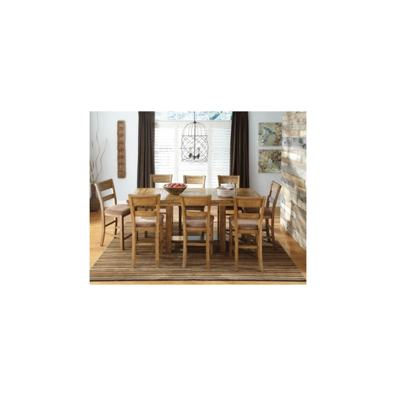 Krinden Counter Height 9Pc. Dining Set - Eaton Hometowne Furniture intended for Anette 3 Piece Counter Height Dining Sets