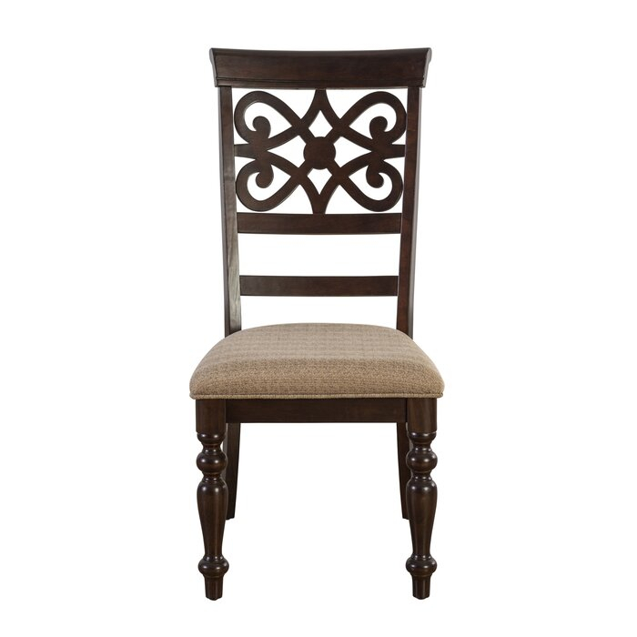 Laconia 7 Pieces Solid Wood Dining Set Throughout Laconia 7 Pieces Solid Wood Dining Sets (Set Of 7) (Image 17 of 25)