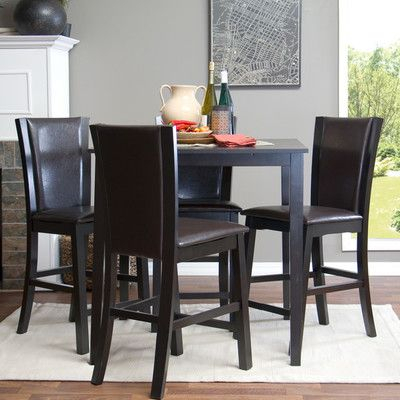 Latitude Run Calla 5 Piece Counter Height Dining Set | Products With Regard To Wiggs 5 Piece Dining Sets (View 22 of 25)