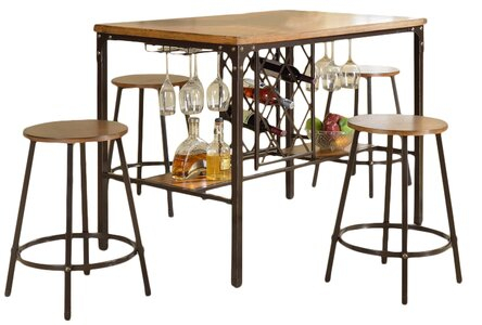 Latitude Run Calla 5 Piece Pub Table Set In Calla 5 Piece Dining Sets (Image 19 of 25)