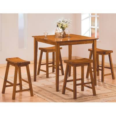 Latitude Run Mounce Wooden 5 Piece Pub Table Set | Wayfair With Hanska Wooden 5 Piece Counter Height Dining Table Sets (Set Of 5) (Image 12 of 25)