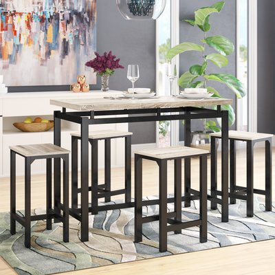 Latitude Run Weatherholt 5 Piece Pub Table Set | Products | Pub For Weatherholt Dining Tables (Image 6 of 25)