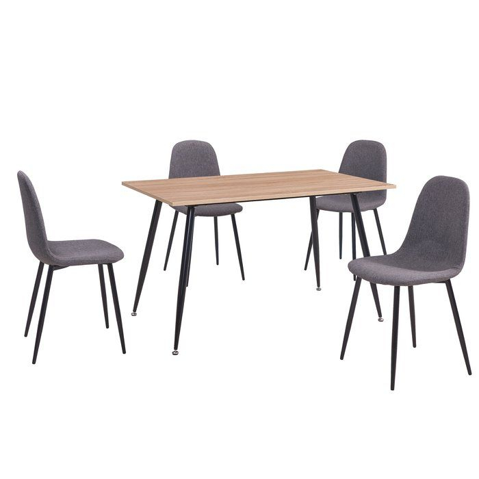Lavenia Indoor 5 Piece Dining Set In 2019   New Place   Kitchen Throughout Telauges 5 Piece Dining Sets (Image 9 of 25)