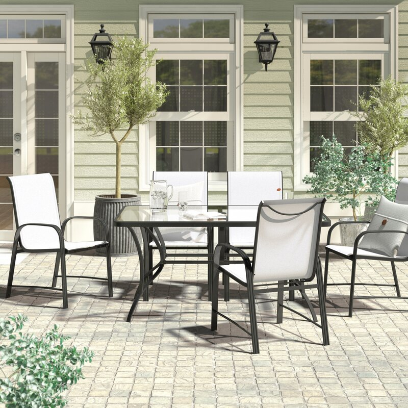 Leftwich 7 Piece Patio Dining Set throughout John 4 Piece Dining Sets