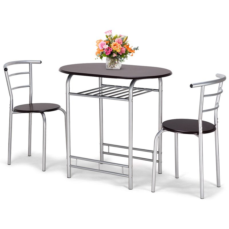 Lelia 3 Piece Breakfast Nook Dining Set Intended For 3 Piece Breakfast Nook Dinning Set (View 9 of 25)