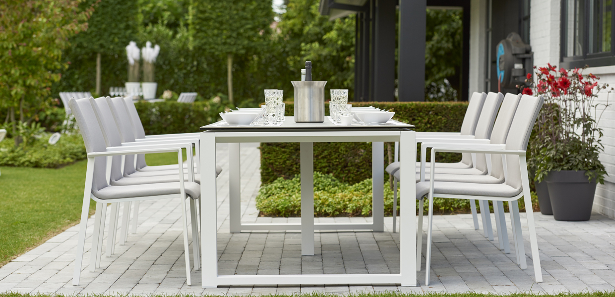 Life Outdoor Living Furniture | Life Outdoor Living In Osterman 6 Piece Extendable Dining Sets (Set Of 6) (Image 8 of 25)