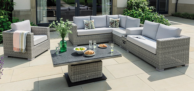 Life Outdoor Living Furniture | Life Outdoor Living With Regard To Osterman 6 Piece Extendable Dining Sets (Set Of 6) (View 19 of 25)