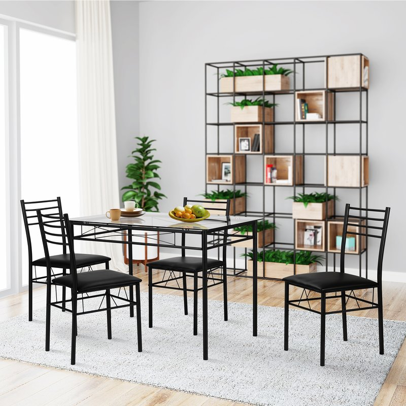 Lightle 5 Piece Breakfast Nook Dining Set Pertaining To Lightle 5 Piece Breakfast Nook Dining Sets (View 3 of 25)
