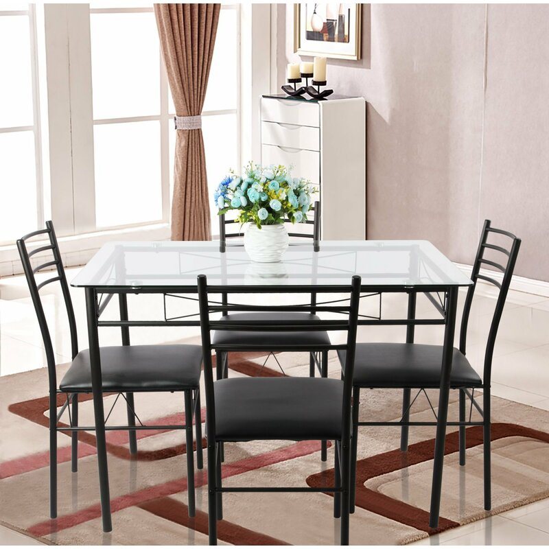 Lightle 5 Piece Breakfast Nook Dining Set With Lightle 5 Piece Breakfast Nook Dining Sets (View 2 of 25)
