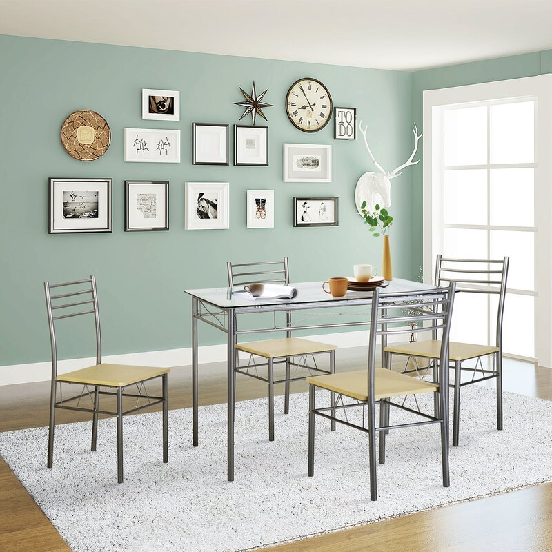 Liles 5 Piece Breakfast Nook Dining Set In Liles 5 Piece Breakfast Nook Dining Sets (Image 13 of 25)