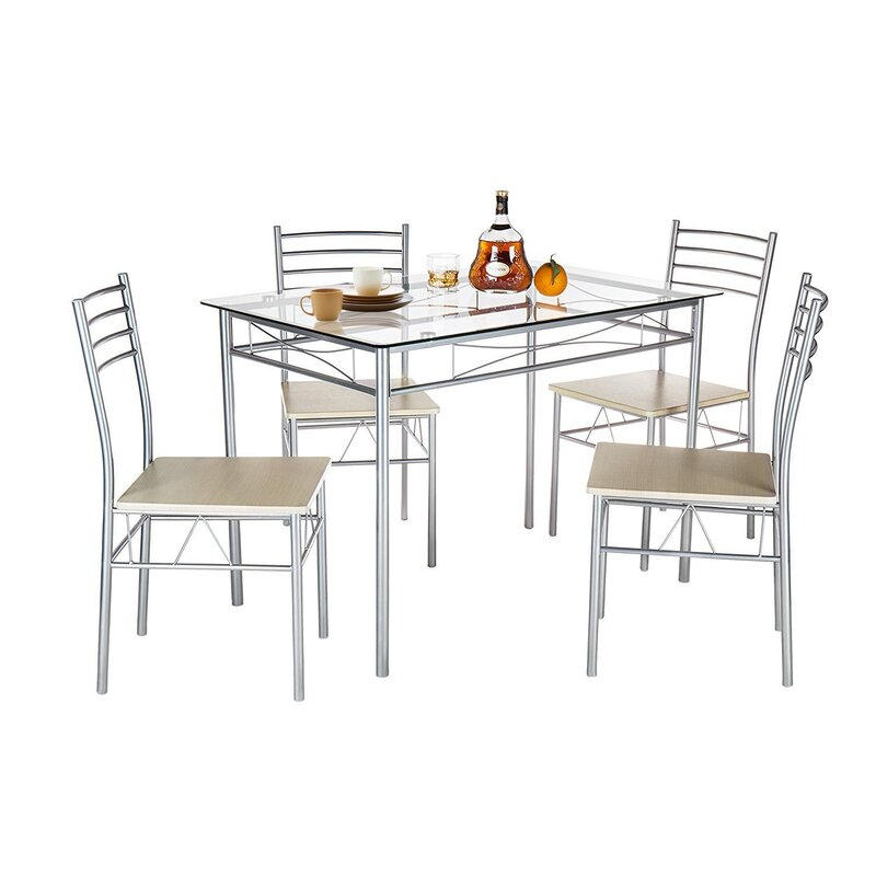 Liles 5 Piece Breakfast Nook Dining Set Intended For Reinert 5 Piece Dining Sets (View 3 of 25)
