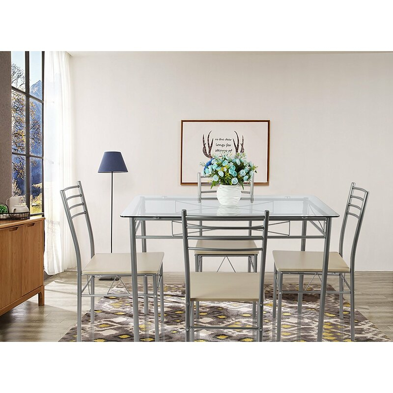 Liles 5 Piece Breakfast Nook Dining Set Pertaining To Liles 5 Piece Breakfast Nook Dining Sets (Image 16 of 25)