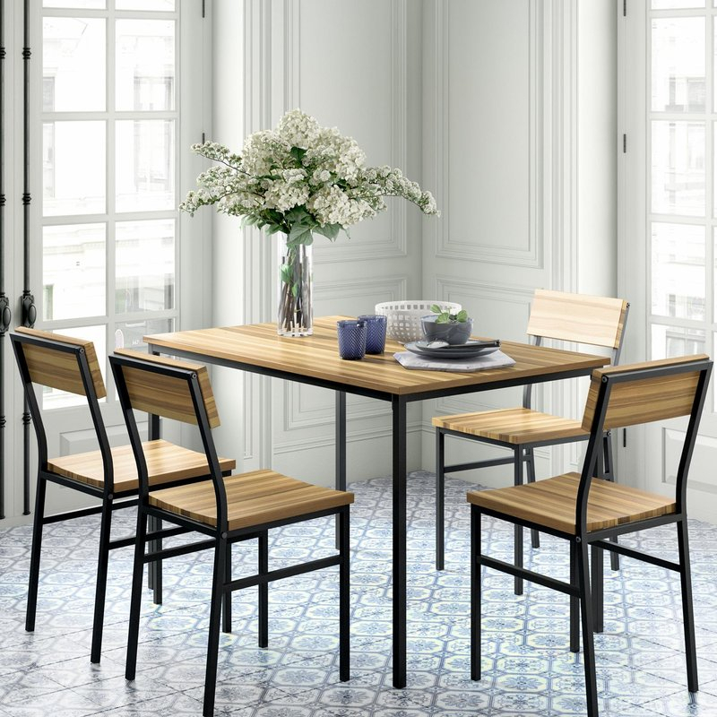 Linden 5 Piece Dining Set Inside Conover 5 Piece Dining Sets (View 10 of 25)