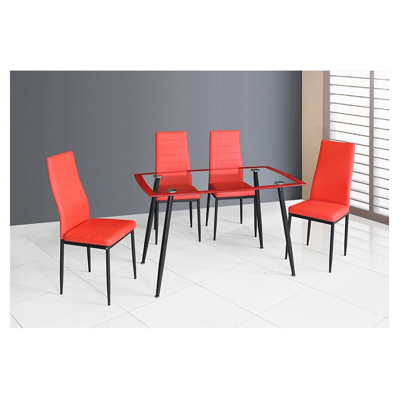Featured Image of Linette 5 Piece Dining Table Sets