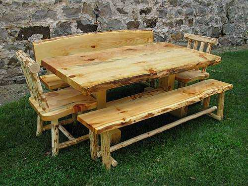 Live Edge Pine Slab Dining Table – Papa Bear's Northwoods Within Northwoods 3 Piece Dining Sets (View 13 of 25)