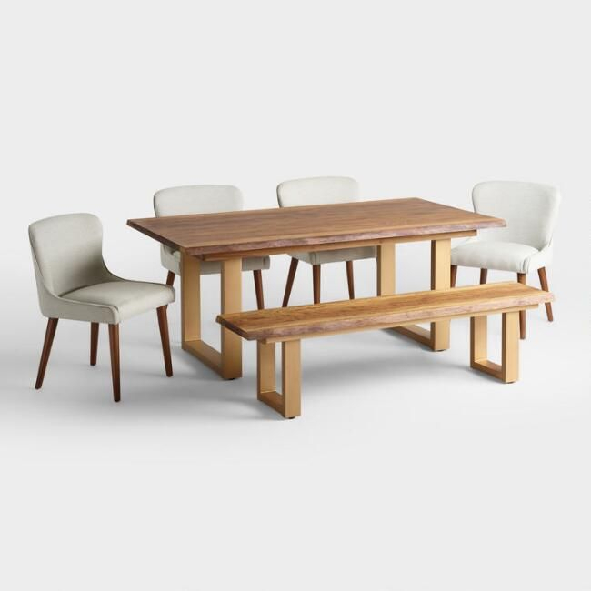 Live Edge Wood Sloan Dining Table – V6 | Throop House | Modern With Regard To Emmeline 5 Piece Breakfast Nook Dining Sets (View 9 of 25)