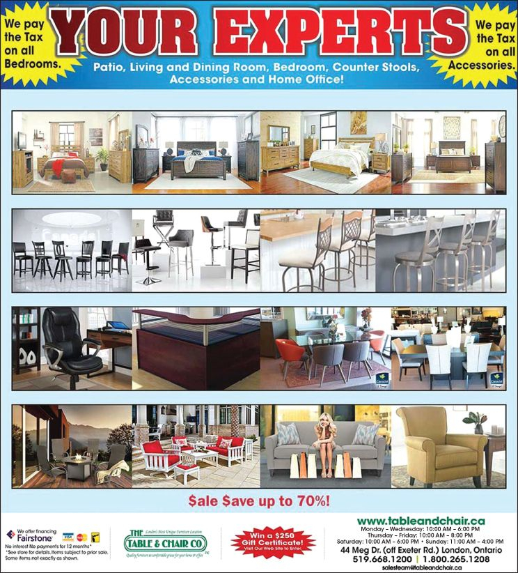 London Furniture Deals   Promotions   The Table & Chair Co. Inc (View 23 of 25)
