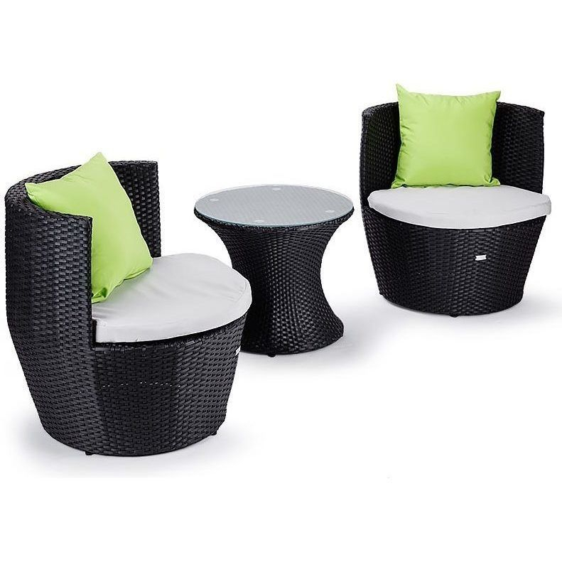 London Rattan Wicker 3 Piece Outdoor Furniture Set – Table Chairs Regarding Lonon 3 Piece Dining Sets (View 11 of 25)