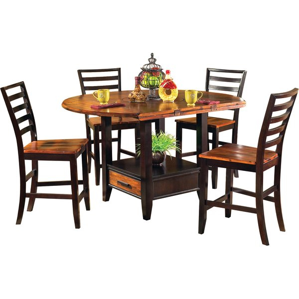 Looking For Hidalgo 5 Piece Counter Height Drop Leaf Solid Wood With Poynter 3 Piece Drop Leaf Dining Sets (View 24 of 25)