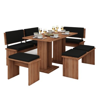 Loon Peak Clarendon 5 Piece Breakfast Nook Dining Set In 2019 pertaining to 5 Piece Breakfast Nook Dining Sets