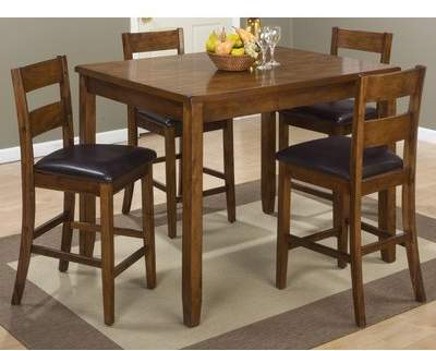 Loon Peak Fort 5 Piece Counter Height Pub Table Set Loon Peak Intended For Linette 5 Piece Dining Table Sets (Image 19 of 25)