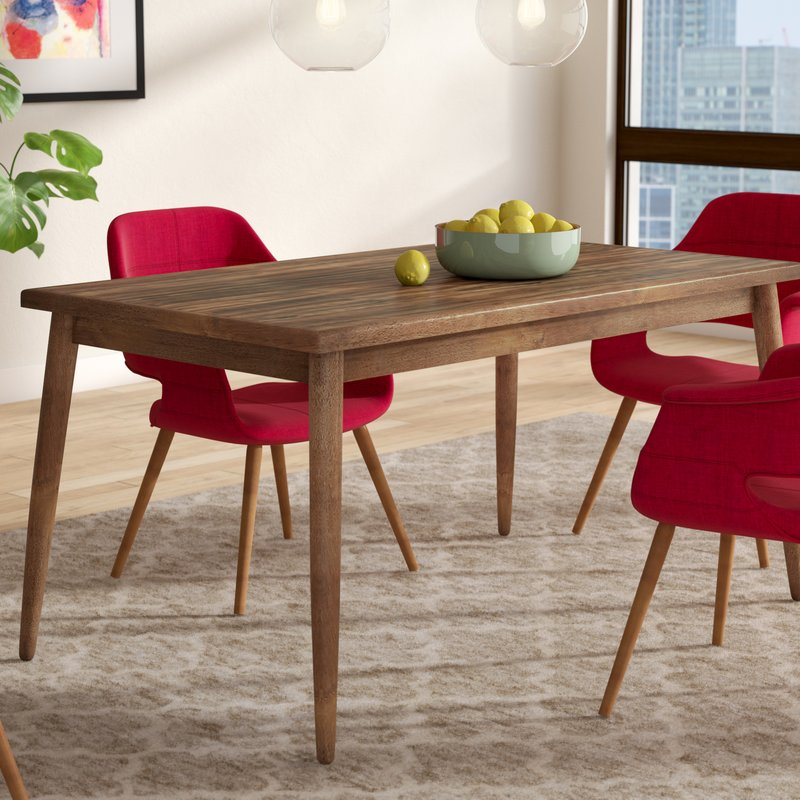 Lydia Dining Table Regarding Amir 5 Piece Solid Wood Dining Sets (Set Of 5) (Image 18 of 25)