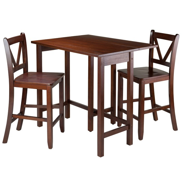 Lynnwood 3 Piece Dining Set Intended For Winsome 3 Piece Counter Height Dining Sets (View 12 of 25)