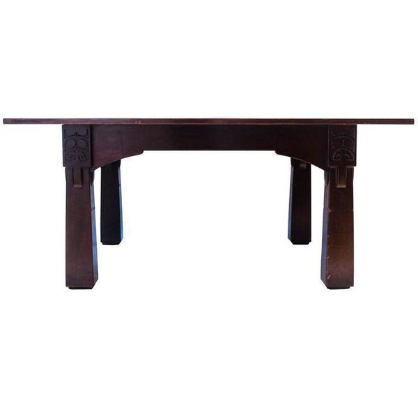 M H Baillie Scott A Cuban Mahogany Dining Table From The Liverpool School Of Art In Baillie 3 Piece Dining Sets (View 17 of 25)