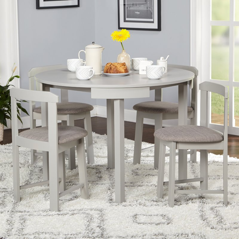 Mabelle 5 Piece Dining Set Within 5 Piece Dining Sets (Image 16 of 25)
