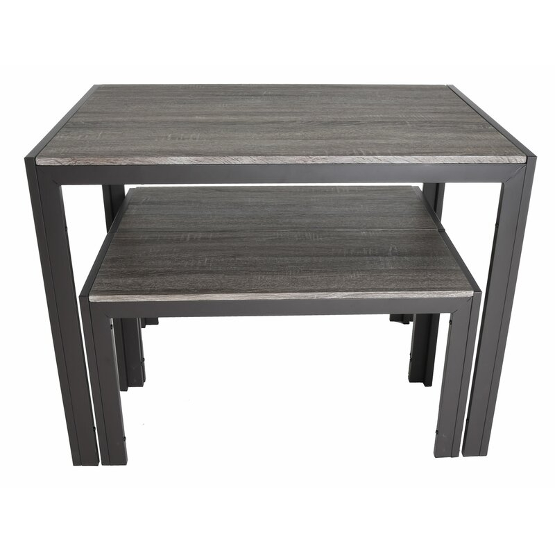 Maloney 3 Piece Breakfast Nook Dining Set For Chelmsford 3 Piece Dining Sets (Image 21 of 25)
