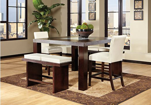 Marsdale Ivory 5 Pc Dining Room | Monroe Place | Dining Room Sets Intended For Castellanos Modern 5 Piece Counter Height Dining Sets (View 24 of 25)