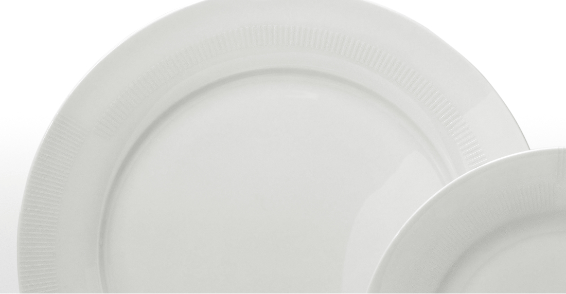 Maynard 12 Piece Textured Rim Dinner Set, White Bone China Inside Maynard 5 Piece Dining Sets (Image 4 of 25)