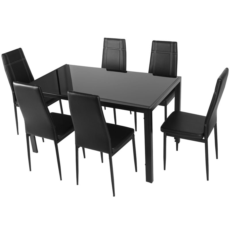Maynard 7 Piece Dining Set Inside Travon 5 Piece Dining Sets (Image 6 of 25)