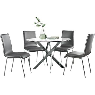 Maynard 7 Piece Dining Set & Reviews | Allmodern Throughout Maynard 5 Piece Dining Sets (Image 8 of 25)