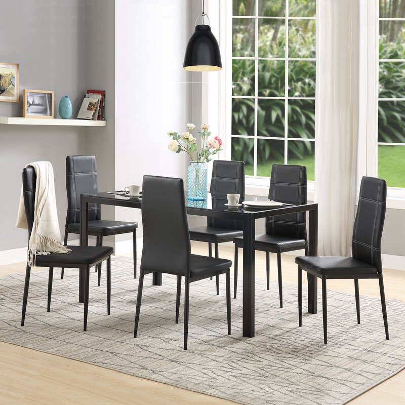 Maynard 7 Piece Dining Set Throughout Maynard 5 Piece Dining Sets (Image 19 of 25)