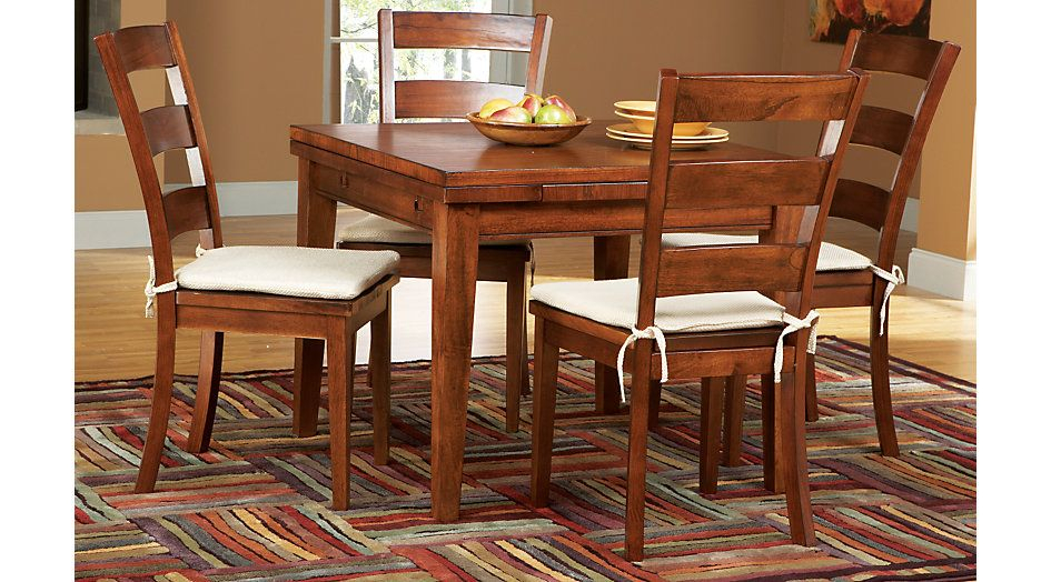 Melbourne Tobacco 5 Pc Square Dining Set | Room – Kitchen | Dining Within Winsted 4 Piece Counter Height Dining Sets (Image 17 of 25)