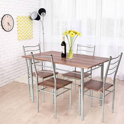 Merax 5 Piece Breakfast Nook Dining Set & Reviews | Wayfair Throughout Casiano 5 Piece Dining Sets (View 3 of 25)