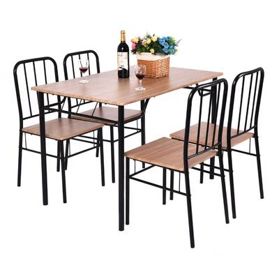 Merax 5 Piece Breakfast Nook Dining Set & Reviews | Wayfair With Conover 5 Piece Dining Sets (View 20 of 25)