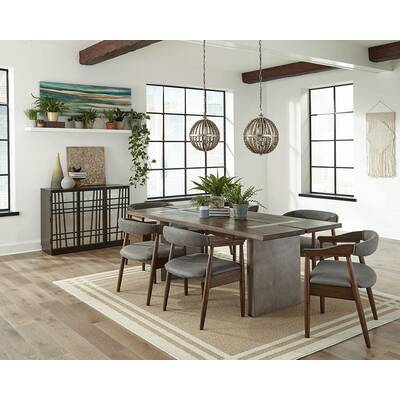 Mercury Row Dupont 7 Piece Dining Set & Reviews | Wayfair Throughout Chelmsford 3 Piece Dining Sets (Image 23 of 25)