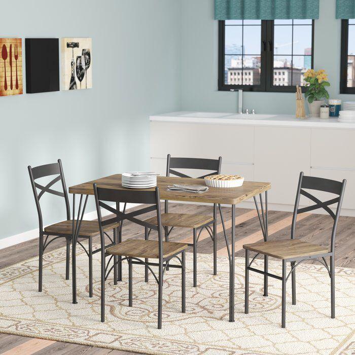Middleport 5 Piece Dining Set | Kitchen Inspo | 5 Piece Dining Set Inside Middleport 5 Piece Dining Sets (Image 14 of 25)