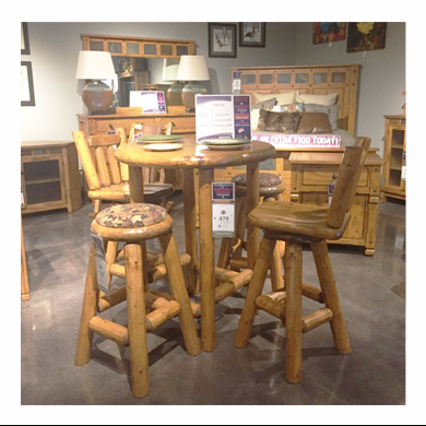 Minnesota Northwoods Cabin Style Furniture | Twin Cities With Northwoods 3 Piece Dining Sets (View 21 of 25)