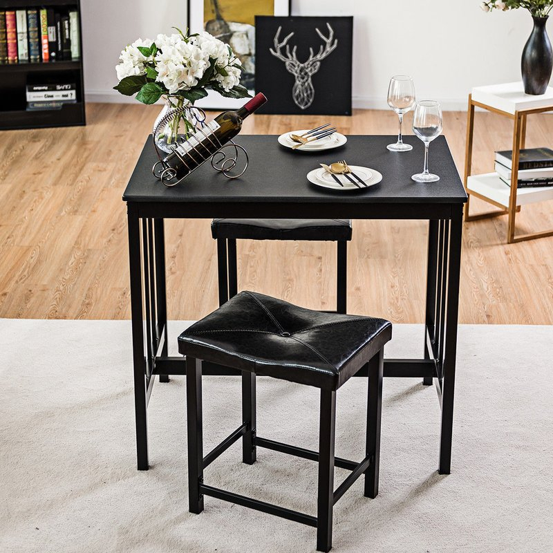 Miskell 3 Piece Dining Set Throughout Miskell 5 Piece Dining Sets (View 17 of 25)