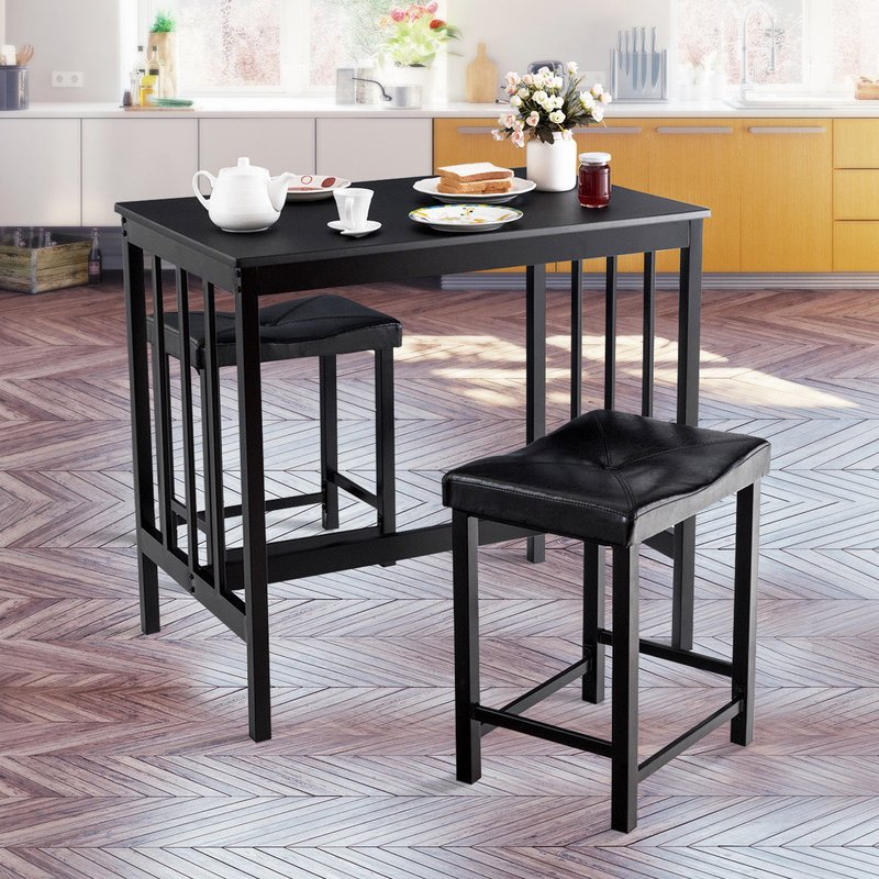 Miskell 3 Piece Dining Set With Miskell 3 Piece Dining Sets (View 3 of 25)