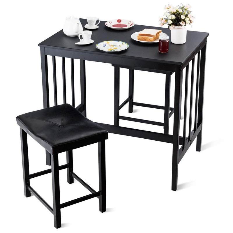 Miskell 3 Piece Dining Set With Regard To Miskell 3 Piece Dining Sets (View 4 of 25)