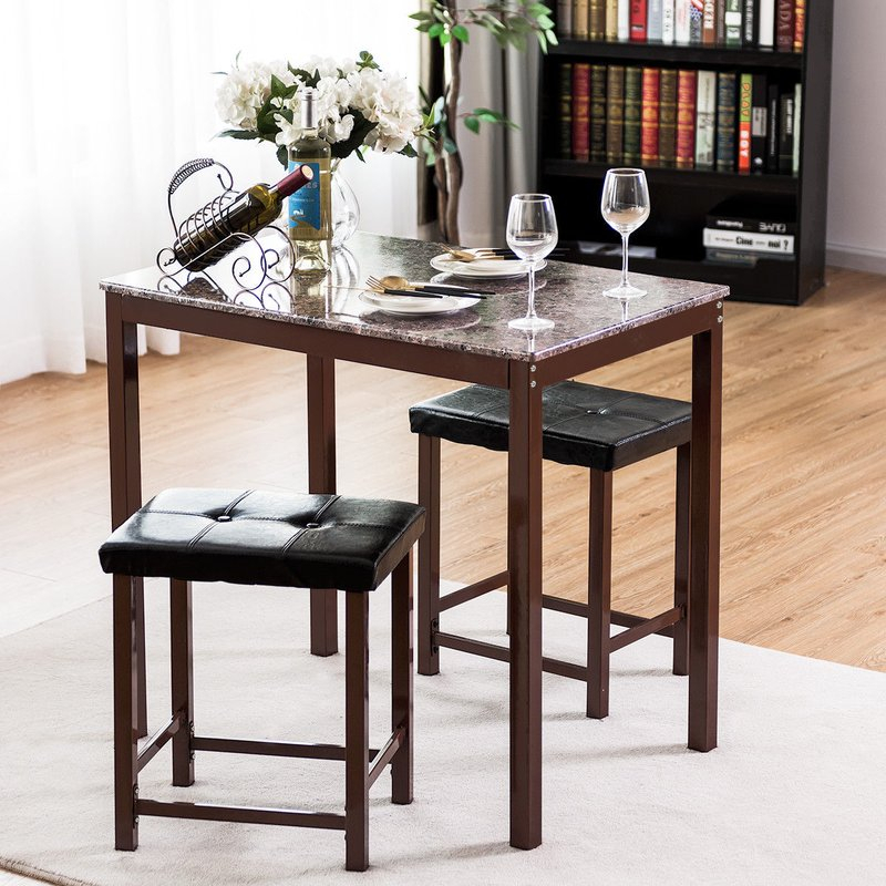 Miskell 3 Piece Dining Set Within Miskell 3 Piece Dining Sets (View 11 of 25)