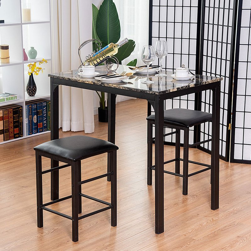 Mitzel 3 Piece Dining Set In Mitzel 3 Piece Dining Sets (View 2 of 25)
