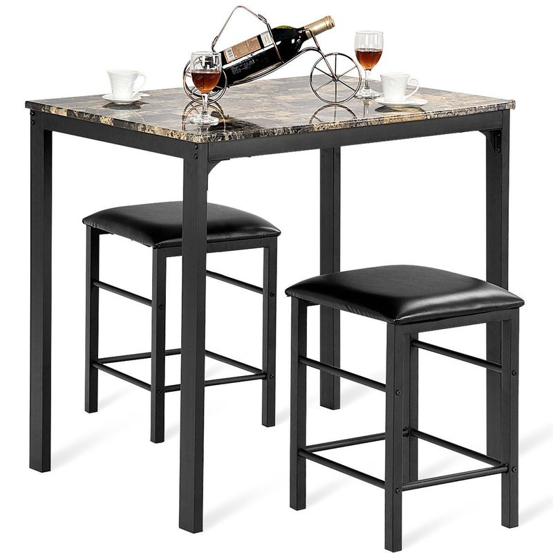 Mitzel 3 Piece Dining Set Regarding Askern 3 Piece Counter Height Dining Sets (Set Of 3) (View 5 of 25)