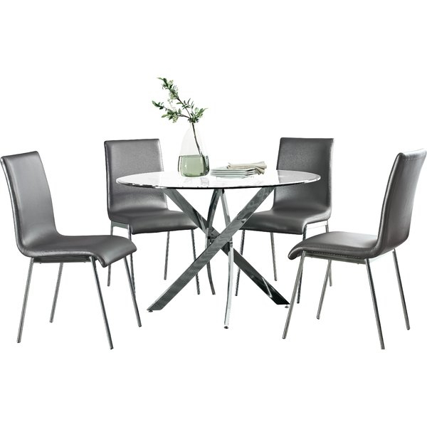 Modern & Contemporary 5 Piece Kitchen Dinette Sets | Allmodern Regarding Travon 5 Piece Dining Sets (Image 11 of 25)